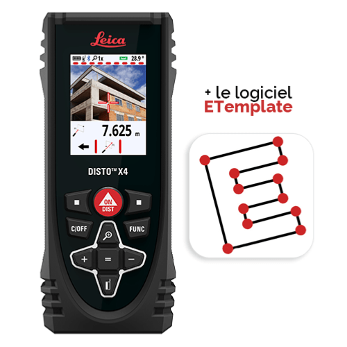 Leica DISTO X4 - Pack ETemplate